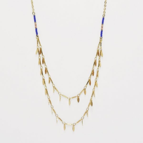 Collier double Nymphéa