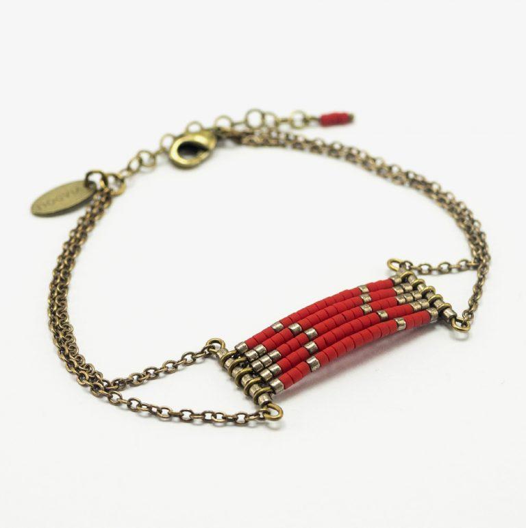 Bracelet Sioux rouge