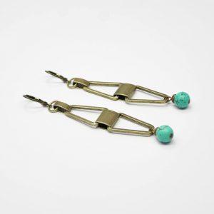 boucles d oreilles cleo turquoise