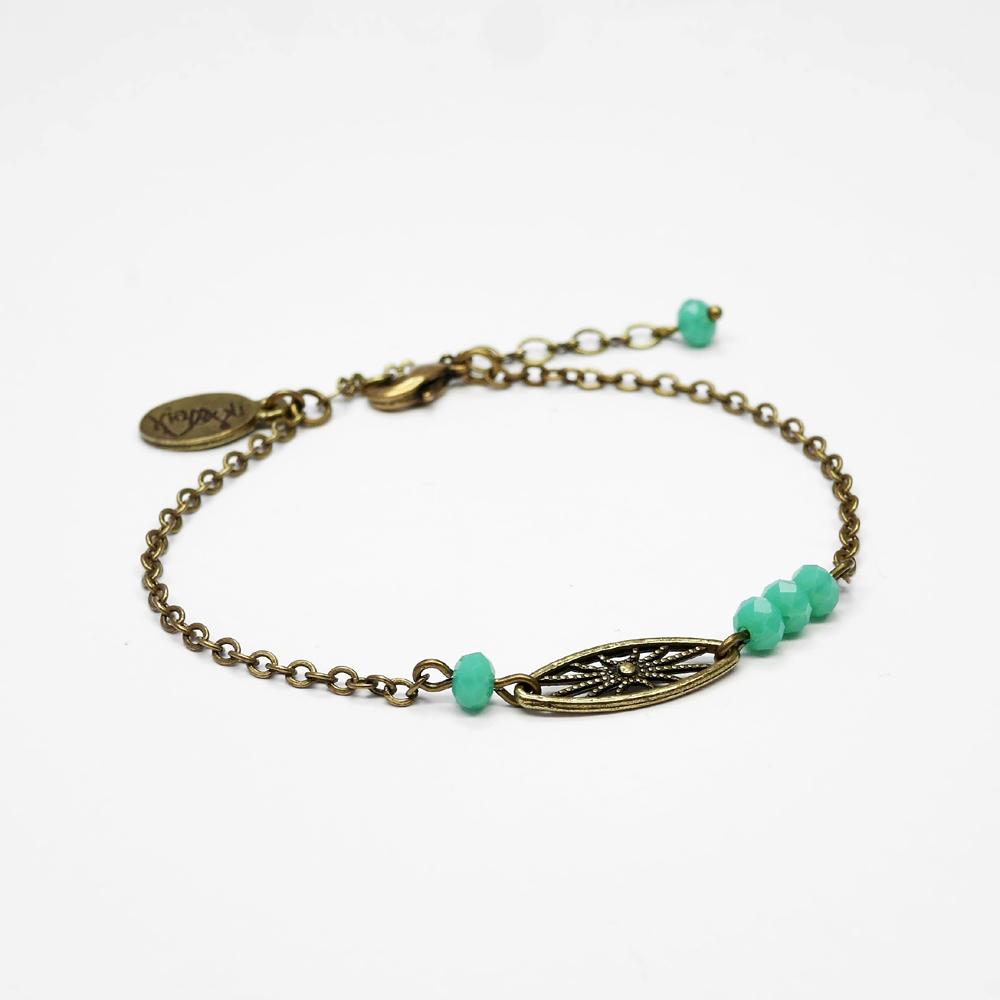 bracelet marcel perlé turquoise