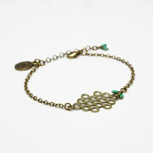 bracelet nuage vert canard