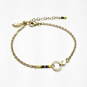 bracelet manou or perle jaune