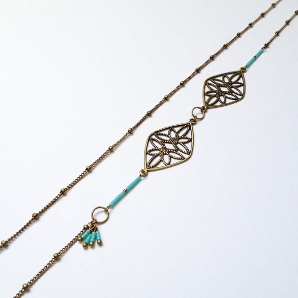sautoir nikiya detail turquoise