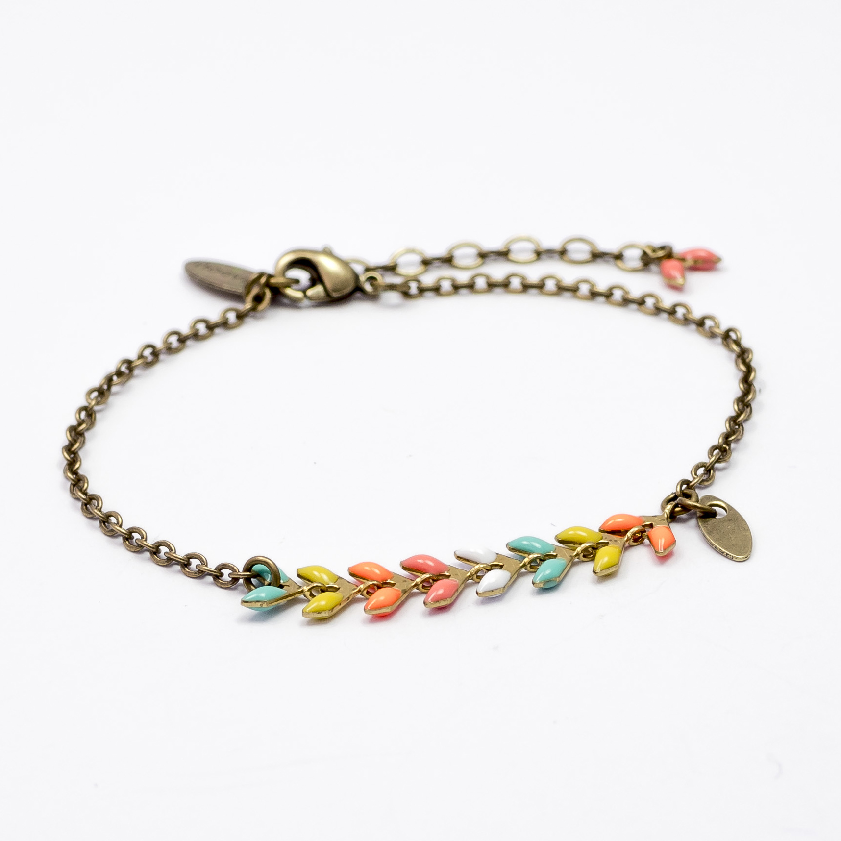 bracelet nourreda multicolore feuille