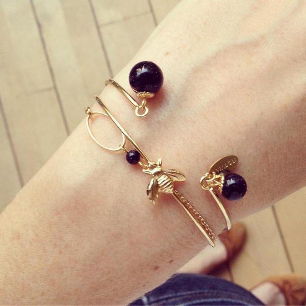 Jonc Lune, jonc Maya & bracelet Lune ovale