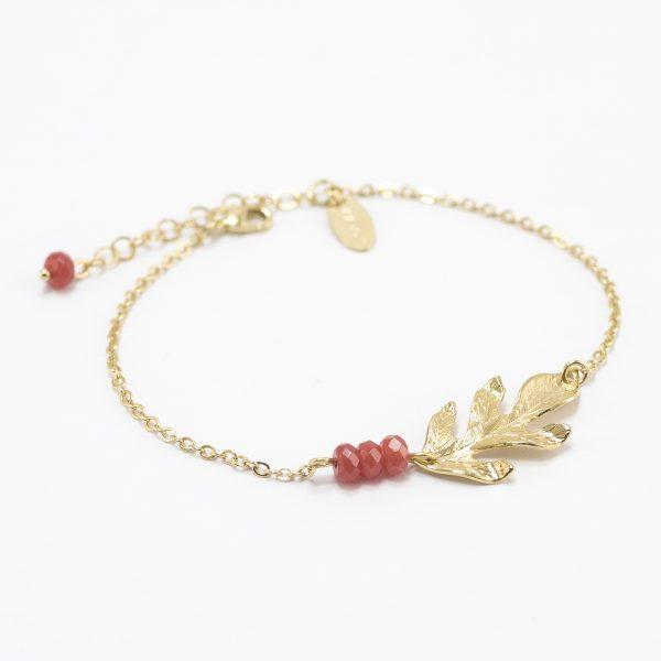 bracelet_automne_perlé_orange