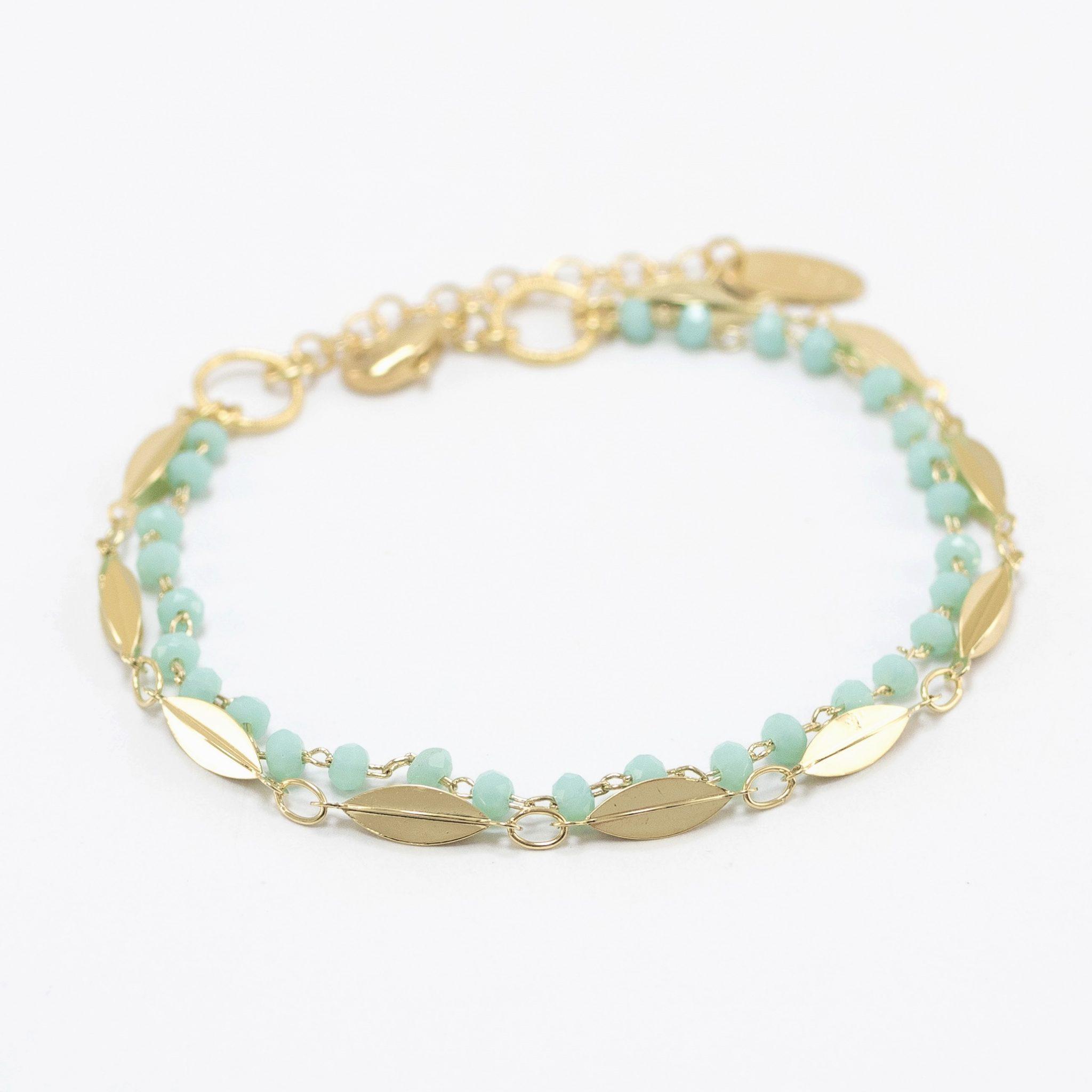 bracelet_esmeralda_perlé_turquoise