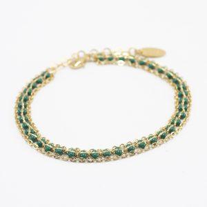 bracelet_marguerite_triple_vert
