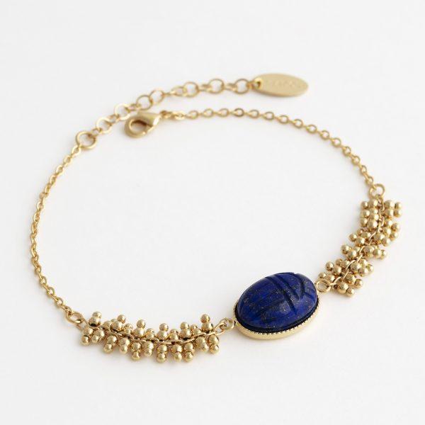 bracelet-scarabée-lapis