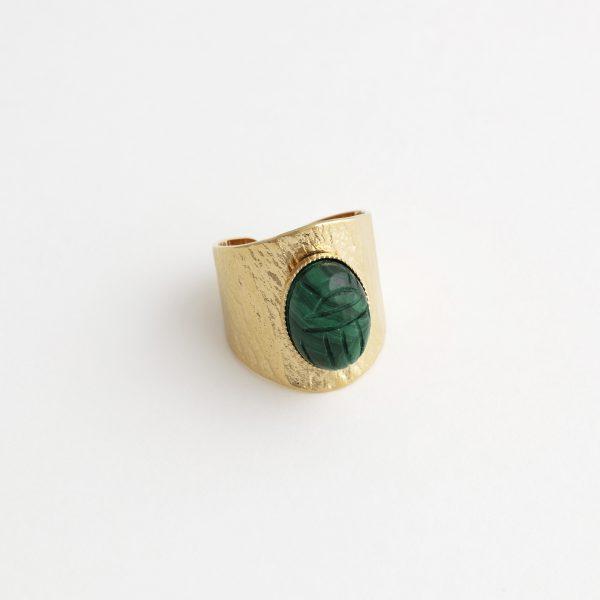 bague-scarabée-malachite